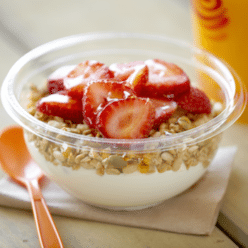 Strawberry Greek Yogurt Bowl